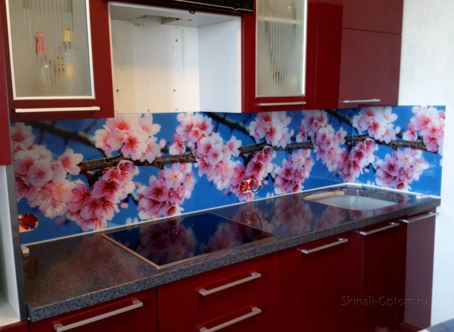 Фото цветы для стеновой панели кухни